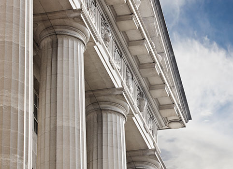 Image of a white marble building with large columns